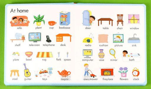 Học tiếng Anh lớp 3 - vật dụng nhà cửa
